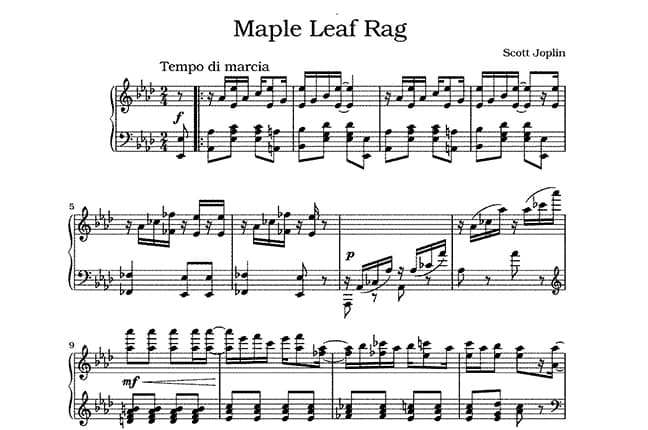 Maple Leaf Ragtime