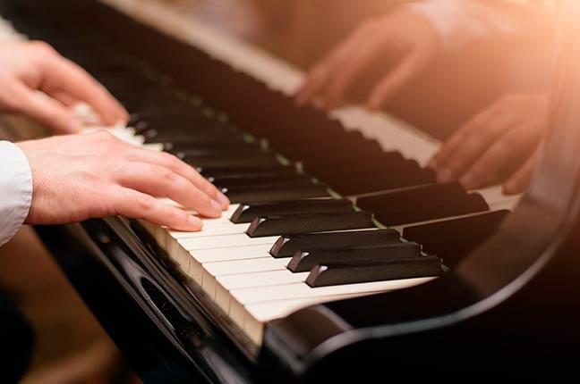 o choro no piano