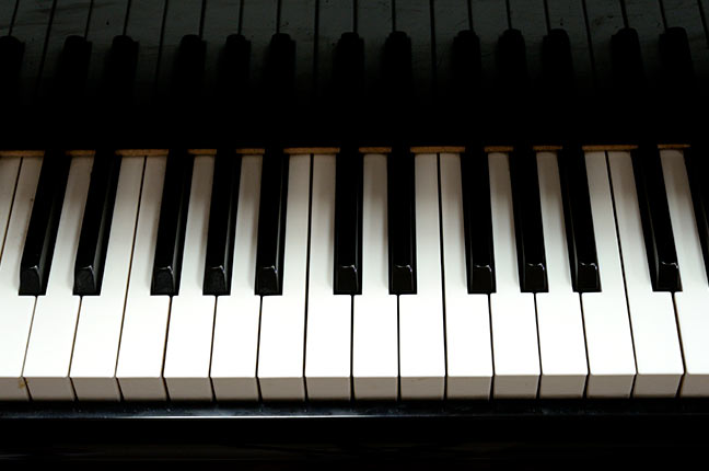 teclas do piano