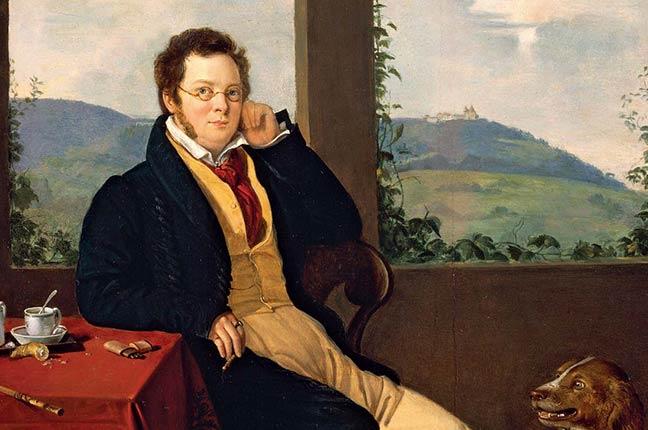 Pintura de Franz Schubert