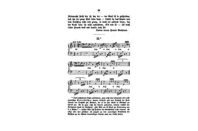 partitura Four Elise de Beethoven