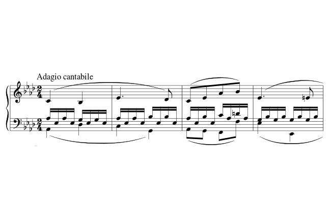 baixo alberti adagio cantabile