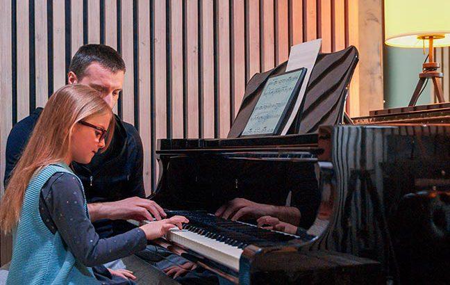 aula de piano em casa