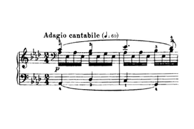 segundo movimento sonata para piano número 8