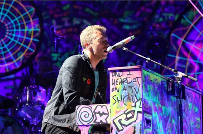 Chris Martin pianista do pop